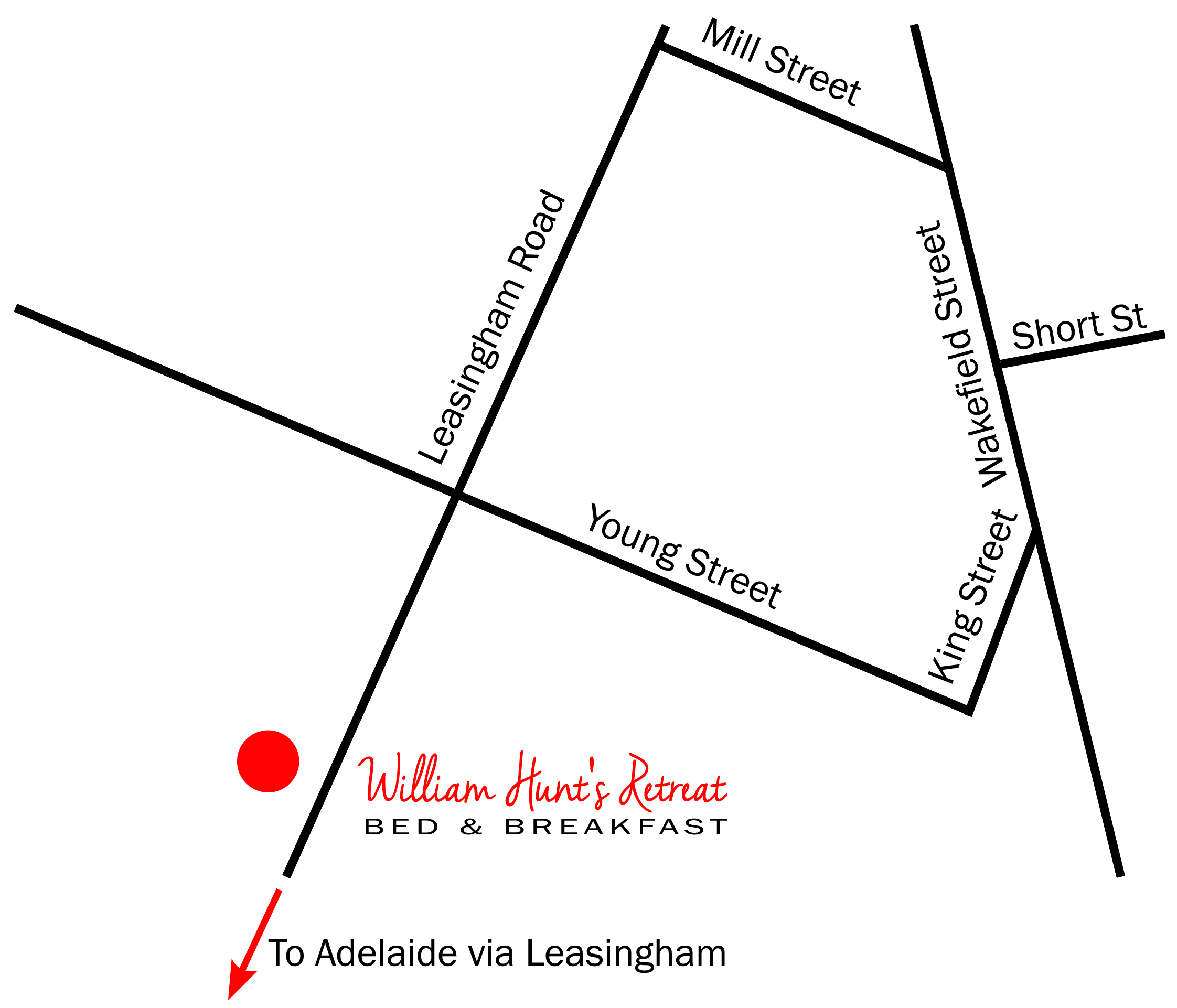 William Hunts Retreat Map Mintaro South Australia